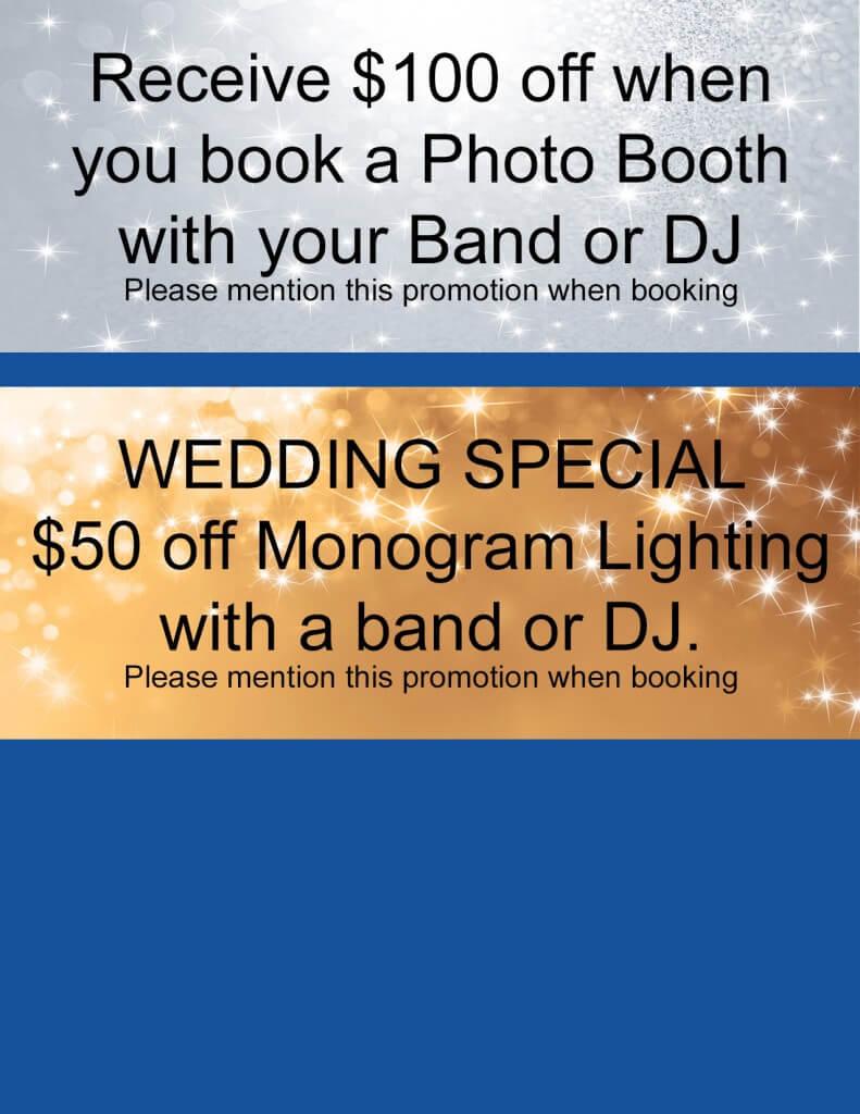 wedding djs, wedding entertainment coupon, entertainment unlimited
