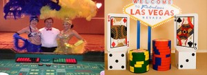 Show girls, props, cigarette girls and up lighting are great add ons for a Casino Party