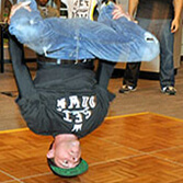 Break Dancers perform at a Bar Mitzvah
