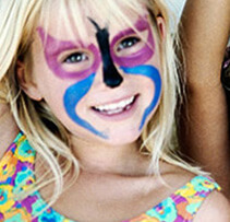 child facepaint at event with entertainment unlimited