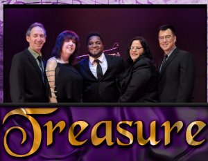 Treasure music group photo at an event with entertainment unlimited