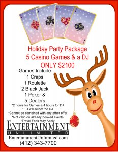 holiday package deal for casino event with a DJ