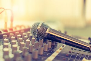Mic on DJ Board