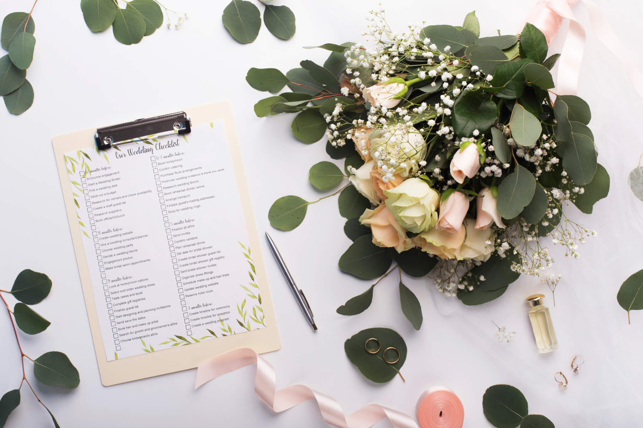 Wedding Checklist and Bouquet
